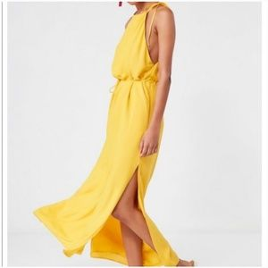 URBAN Outfitters Maxi Dress Yellow Sz Small